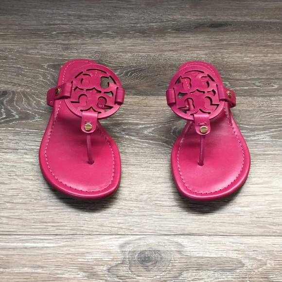 2080525f1bd57 Tory Burch Miller Sandals Fuchsia New